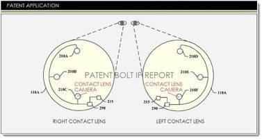Google files patents for embedded cameras in contact lenses