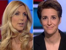 Coulter Hits Back at Maddow After the MSNBC Host Downplays Her as Just 'a Comedian'